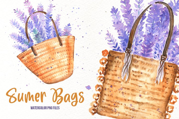 Watercolor Summer Bags