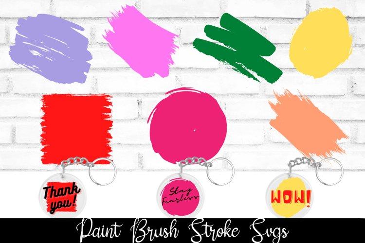 Paint Brush Stroke SVGs|Watercolor paint SVG|KeyChain SVG