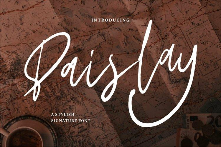 Web Font Paislay - A Stylish Signature Font example image 1