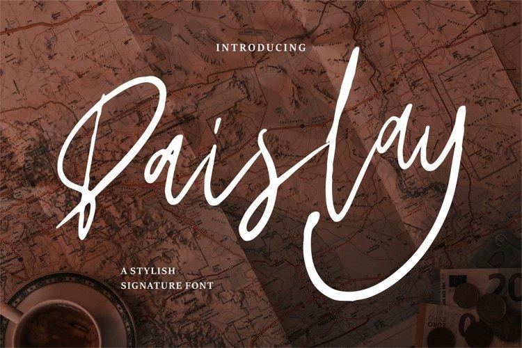 Paislay - A Stylish Signature Font example image 1