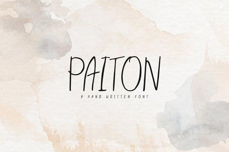 Paiton Handwritten Font example image 1