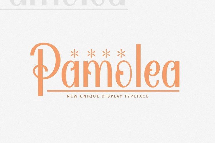 Web Font Pamolea