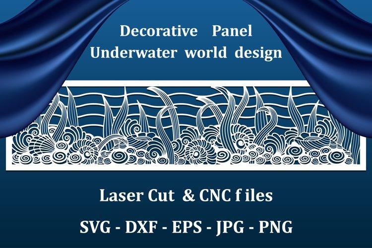 Nautical wall art panel,CNC cut files..Underwater sea world