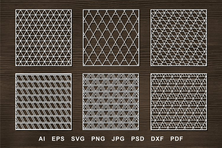 Laser cut Panel SVG for Crafters. Triangle ornate