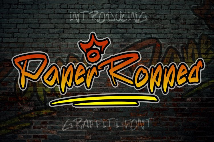 Paper Ropped - Graffiti Font example image 1
