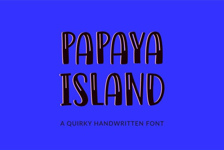 Papaya Island - a quirky handwritten font example image 1