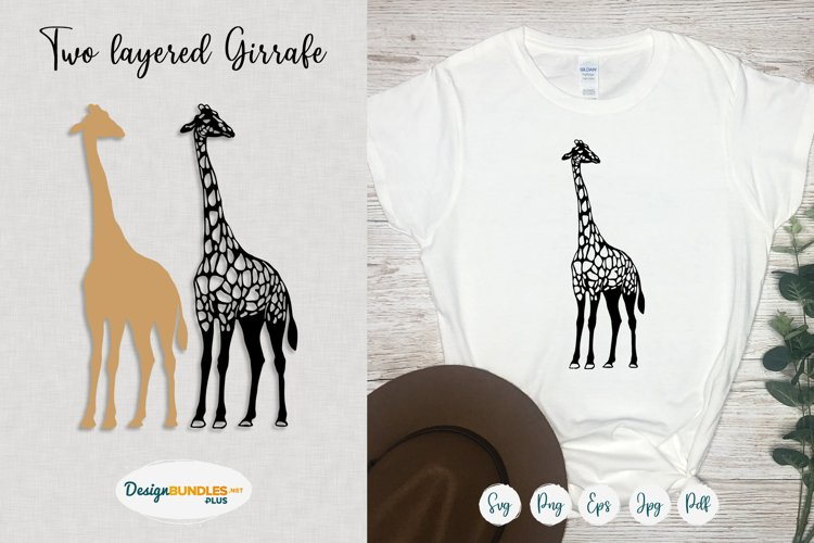Giraffe SVG cut files   Cute safari animal