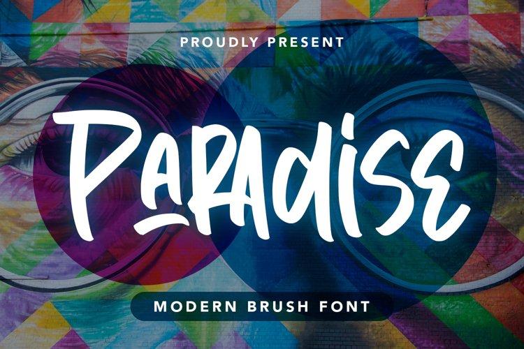 Paradise - Modern Brush Font example image 1