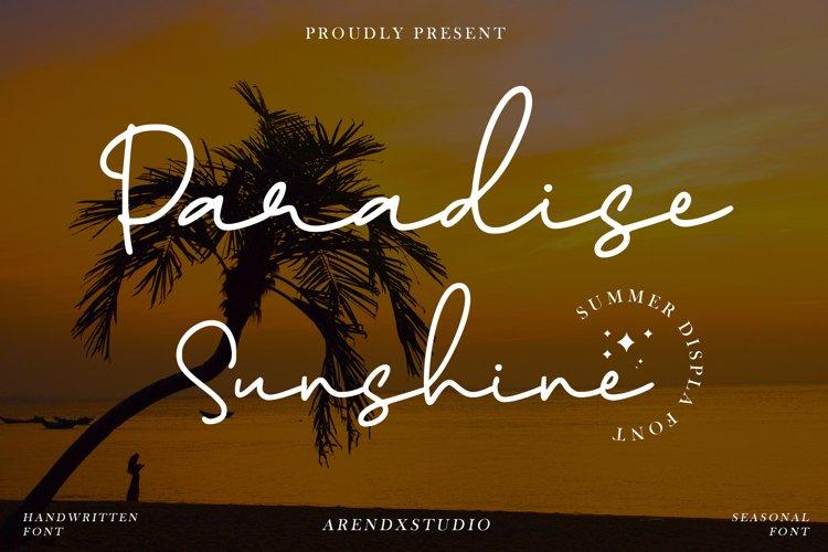 Paradise Sunshine - Handwritten Font example image 1
