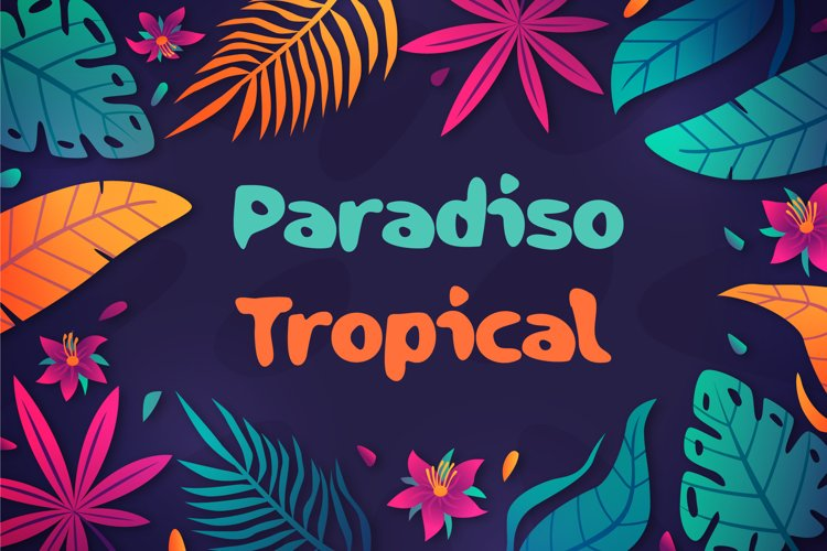 Paradiso Tropical Summer Font example image 1