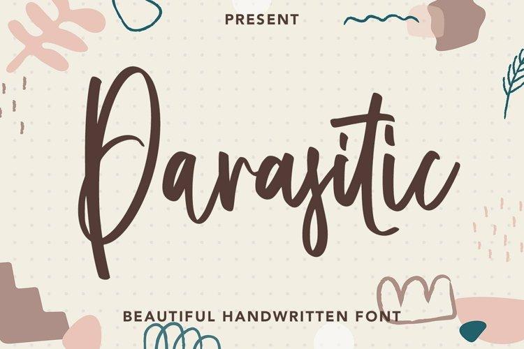 Web Font Parasitic - Beautiful Handwritten Font example image 1