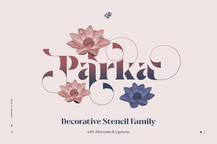 Parka - Decorative Stencil Family example image 1