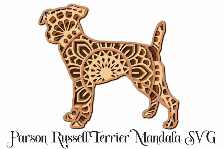 Parson Russell Terrier Mandala Layered SVG - Paper Cutting example image 1