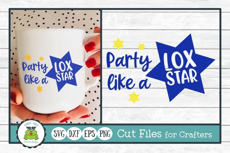 Party Like a Lox Star, Hanukkah SVG Cut File for Crafters