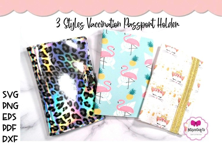 3 Styles Vaccination Passport Holder|Travel Vaccination Card example image 1