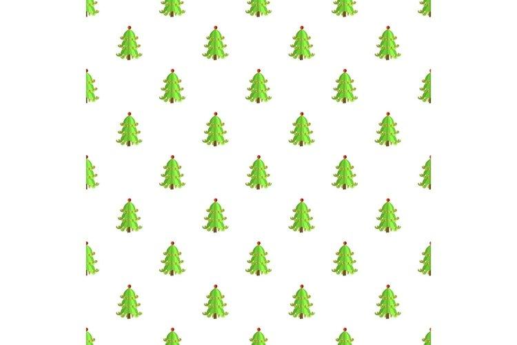 Festive xmas tree pattern seamless vector example image 1