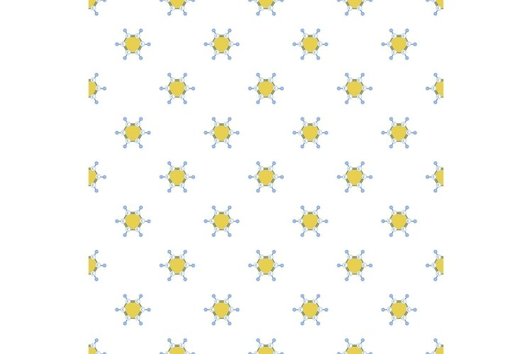 Benzene molecule pattern seamless vector example image 1