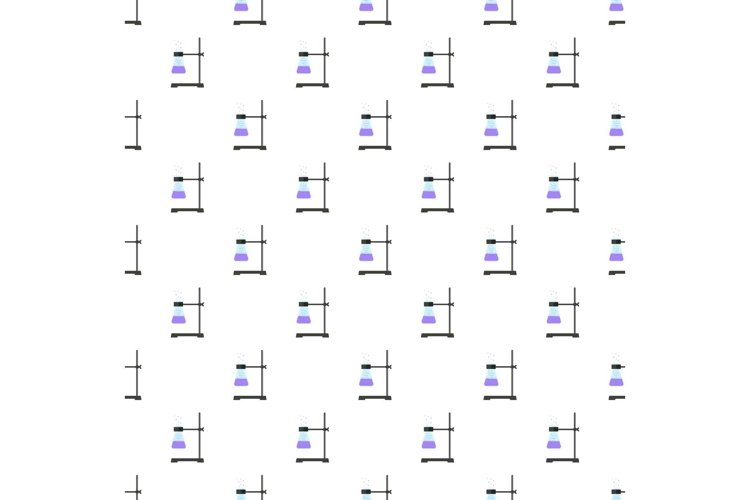 Test tube on stand pattern seamless vector example image 1