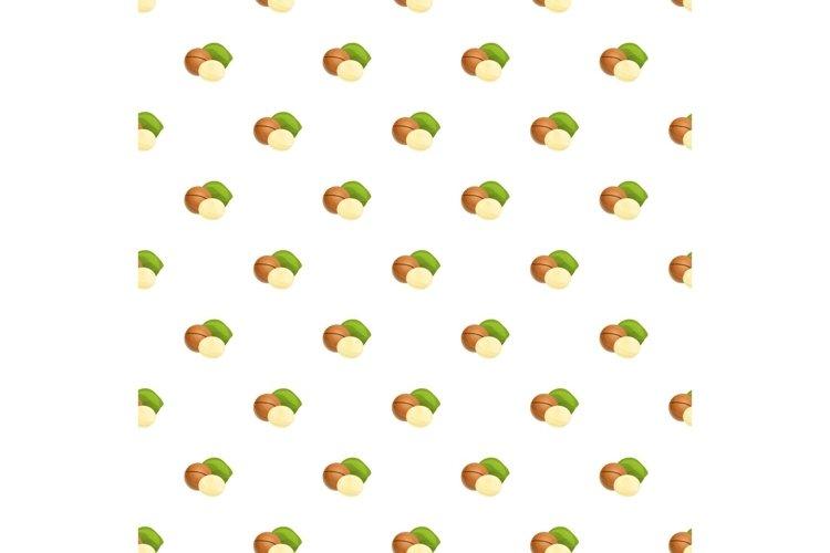 Macadamia pattern seamless vector example image 1