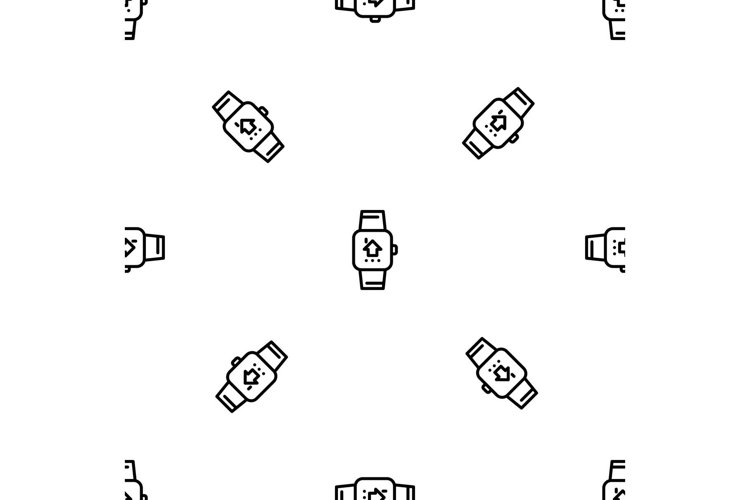 Smart watch pattern seamless vector example image 1