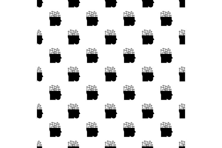 Smart brain mind pattern seamless vector example image 1
