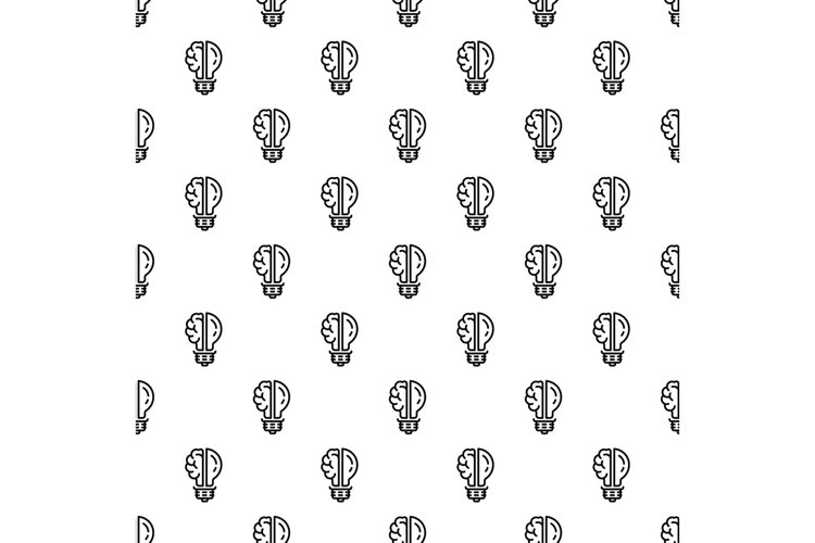 Brain bulb pattern seamless vector example image 1