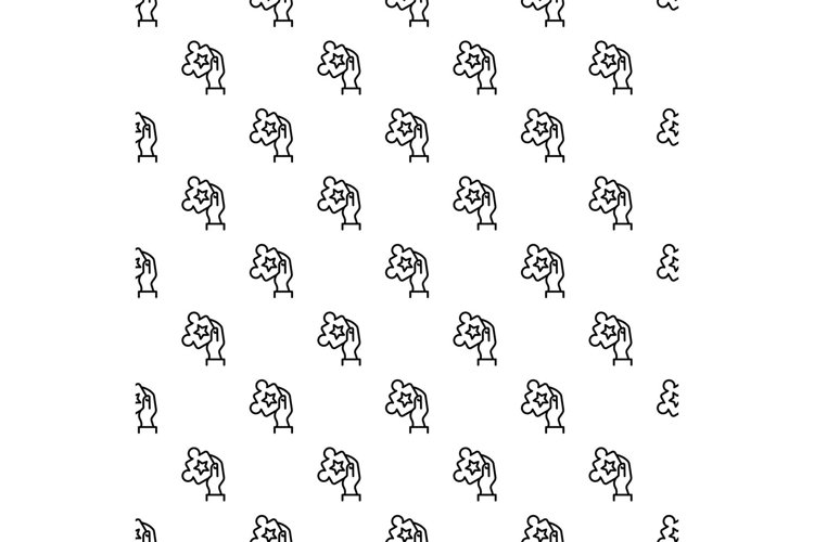 Puzzle in hand pattern seamless vector example image 1