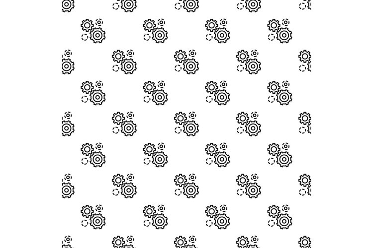 Business gear pattern seamless vector example image 1