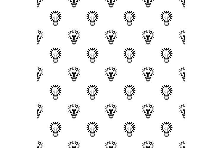 Idea bulb pattern seamless vector example image 1