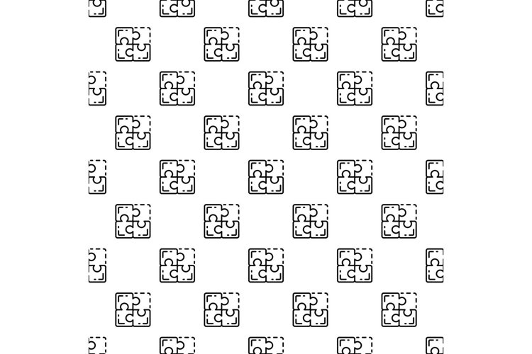 Miss one puzzle pattern seamless vector example image 1