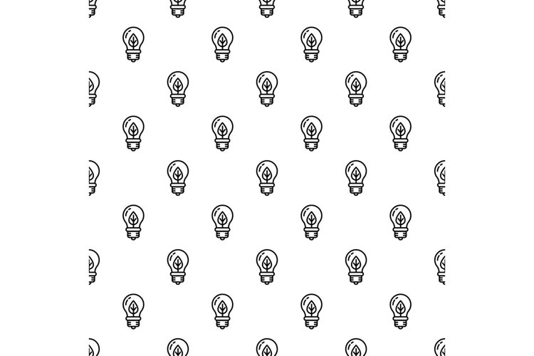 Eco leaf bulb pattern seamless vector example image 1
