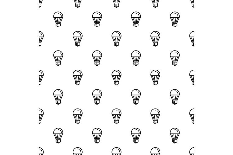 Save energy bulb pattern seamless vector example image 1