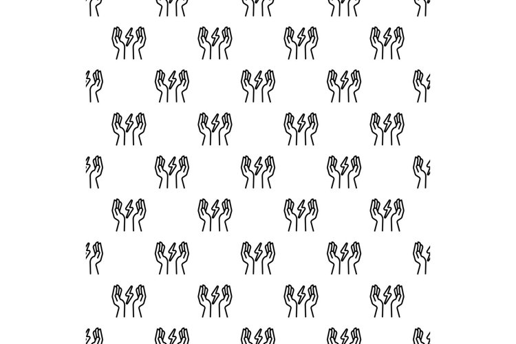 Hand keep energy pattern seamless vector example image 1