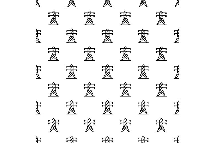 Electric tower pattern seamless vector example image 1