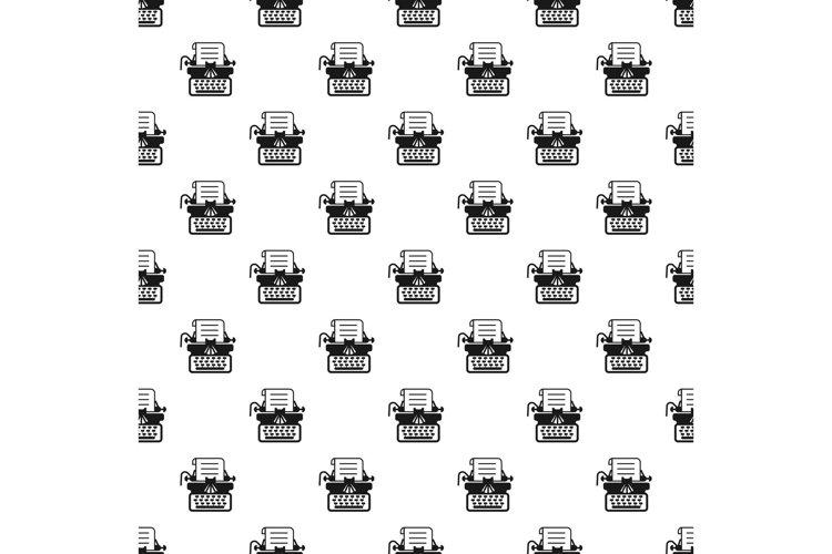 Antique typewriter pattern seamless vector example image 1