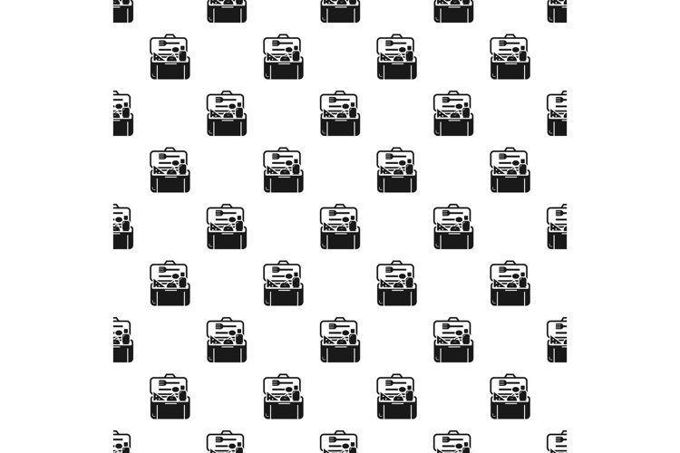 Plastic lunchbox pattern seamless vector example image 1