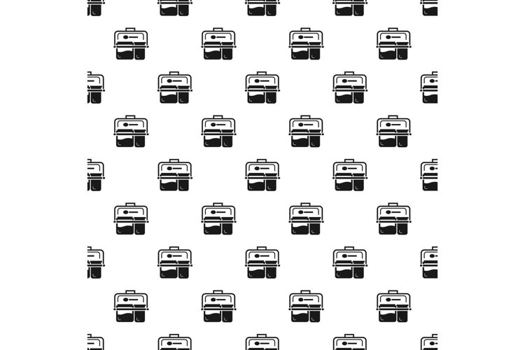 Meal lunch box pattern seamless vector example image 1