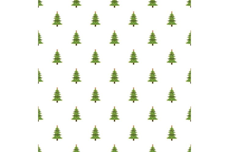 Xmas fir tree pattern seamless vector example image 1