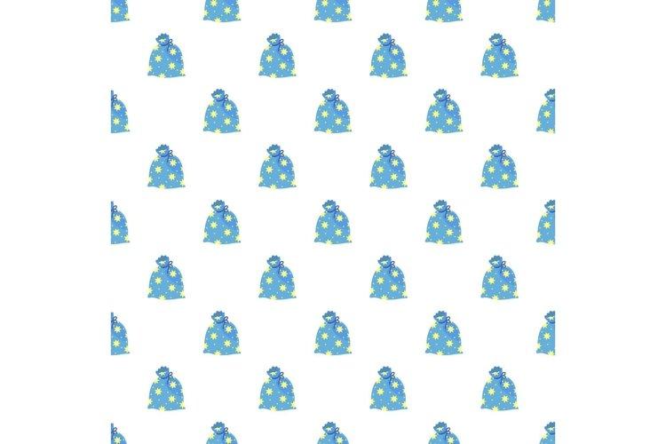 Magic star bag pattern seamless vector example image 1