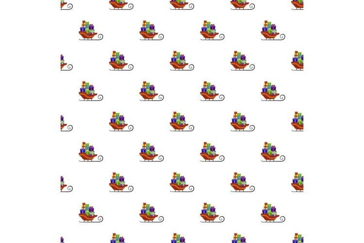 Santa claus sleigh pattern seamless vector