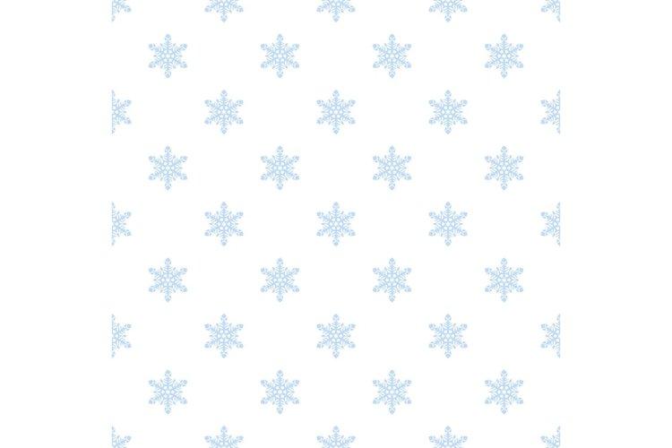 White snowflake pattern seamless vector