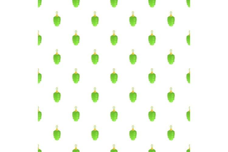Green toy fir tree pattern seamless vector