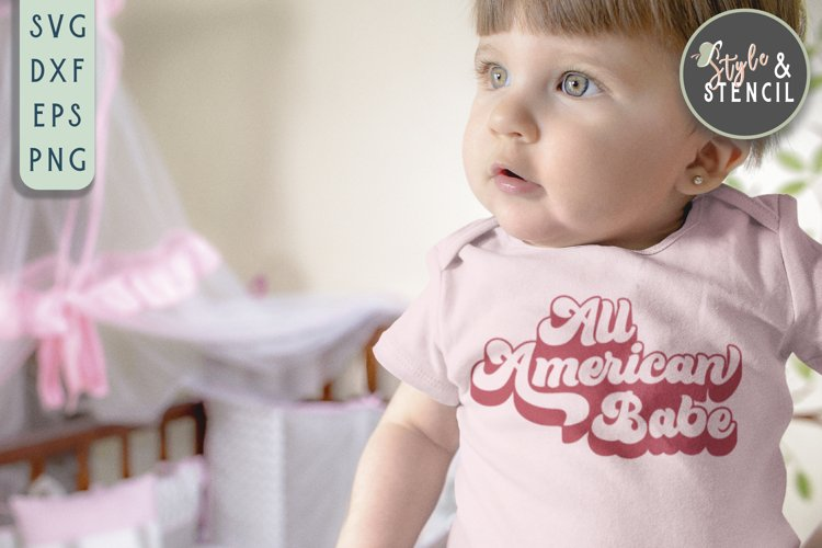 All American Babe SVG   4th of July   America