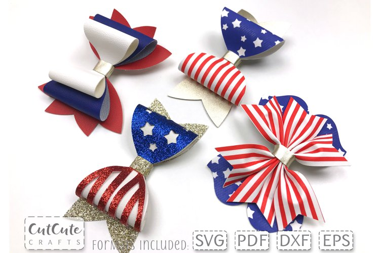 Independence Day Bow Templates Bundle