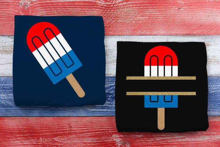 Patriotic Popsicle and Split SVG File