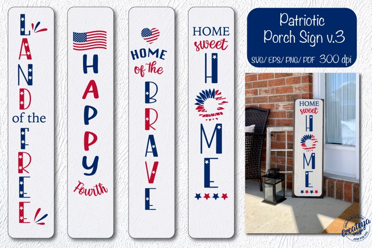 Patriotic porch sign svg, Patriotic svg, Home sweet home