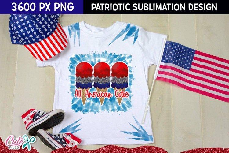 All american cutie Patriotic tie dye | Sublimation design