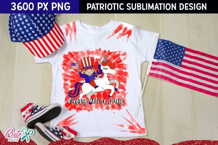 Happy 4 th of july Sublimation tie dye Patriotic quotes