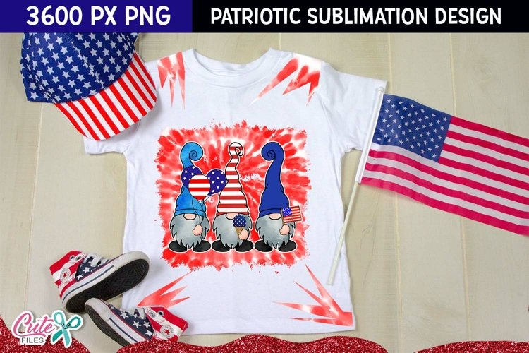 Patriotic tie dye | Gnomes Sublimation