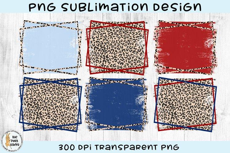 Patriotic Leopard Sublimation Backgrounds